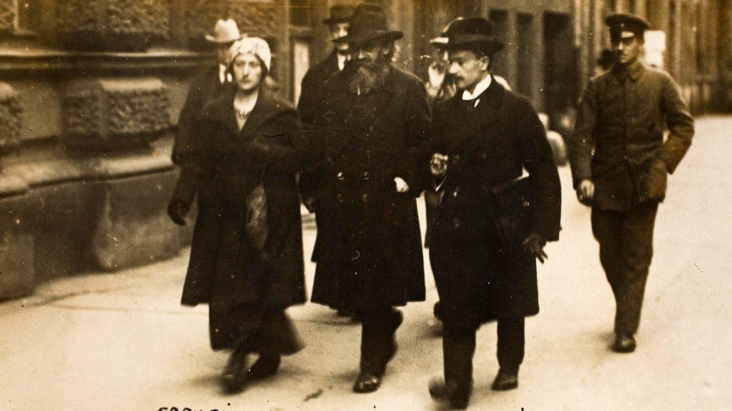 Kurt Eisner - Auf dem Weg zur Rücktrittserklaerung 1919