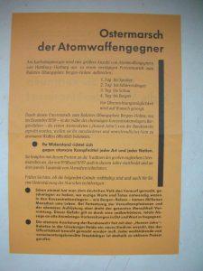 Erstes deutsches Ostermarsch-Flugblatt. Foto: Konrad Tempel