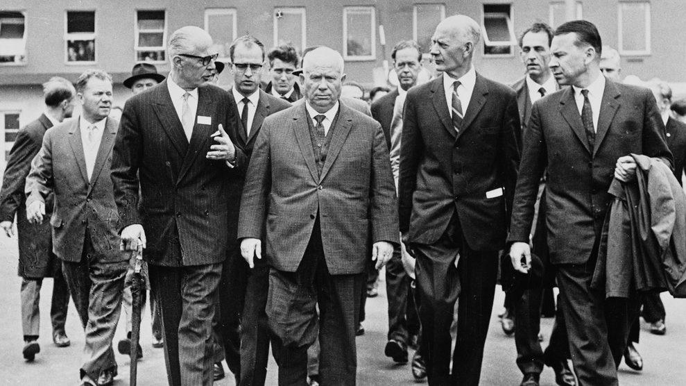 Nikita Chruschtschow besucht Herøya, Norwegen im Jahr 1964