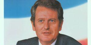 Auschnitt aus Wahlplakat mit Uwe Barschel. Foto: rchiv für Christlich-Demokratische Politik (ACDP)
